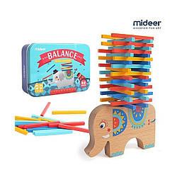 Игра настольная развивающая балансир Слон 40 элементов MD1050, Mideer