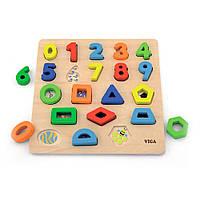 Набор для обучения Viga Toys Цифры и формы (50119)