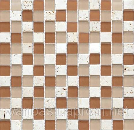 """Микс из мозаики """"Мрамор стекло""""C S11(2,3 х 2,3 см)"""