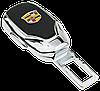 Заглушка - переходник ремня безопасности  с логотипом CADILLAC VIP КЛАССА (Авиационная сталь, кожа), фото 2