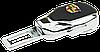 Заглушка - переходник ремня безопасности  с логотипом CADILLAC VIP КЛАССА (Авиационная сталь, кожа), фото 3