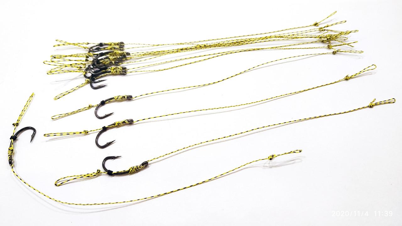 Карповый поводок (волос) , крючки «Fudo Carp Hook» № 8 формы Банан
