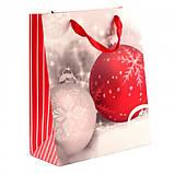 "Пакет бумажный ""Christmas Balls"" 26 х 32 см, фото 2"