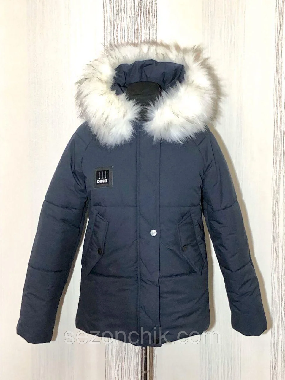 Куртки зимние женские модные с мехом