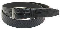 Мужской кожаный ремень под брюки Skipper 1026-33 черный, фото 1