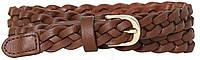 Узкий женский поясок, ремень из эко кожи H&M коричневый, фото 1