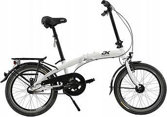 Складной алюминиевый велосипед Cossack 20 white Польша