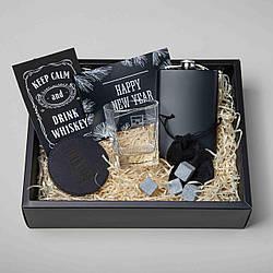 """Подарочный набор новогодний """"Keep calm and drink whiskey""""    Подарочный бокс на Новый Год"""