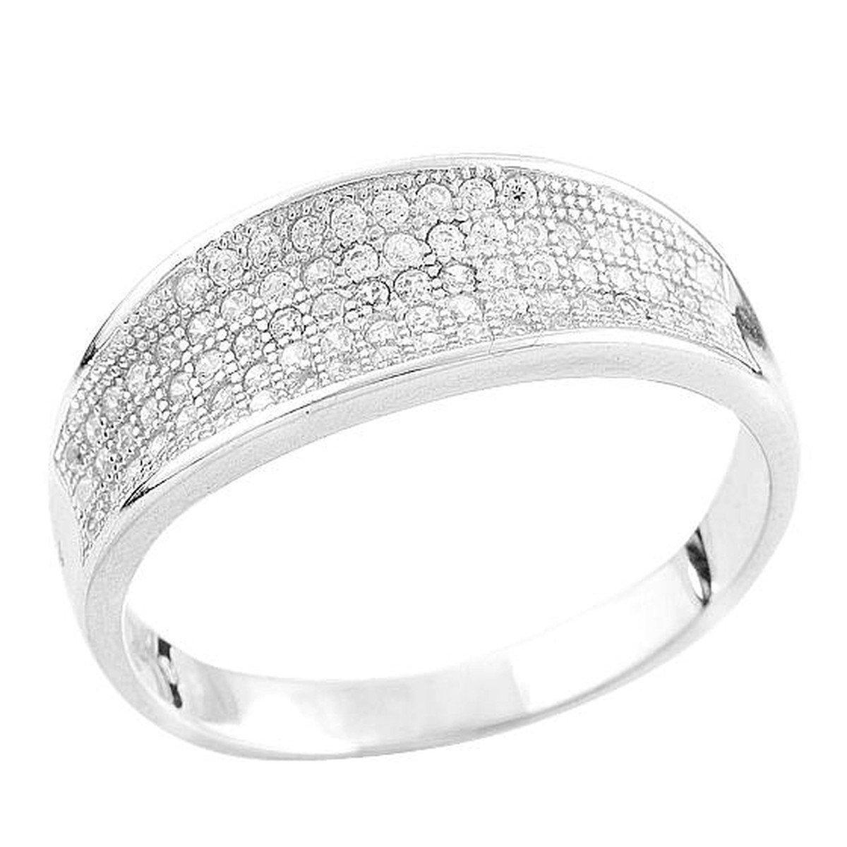 Серебряное кольцо DreamJewelry с фианитами (1560594) 18 размер