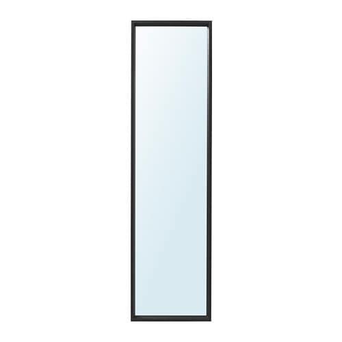 ИКЕА (IKEA) NISSEDAL, 303.203.21, Зеркало, черный, 40x150 см - ТОП ПРОДАЖ