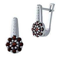 Серебряные серьги DreamJewelry с натуральным гранатом (2025801), фото 1