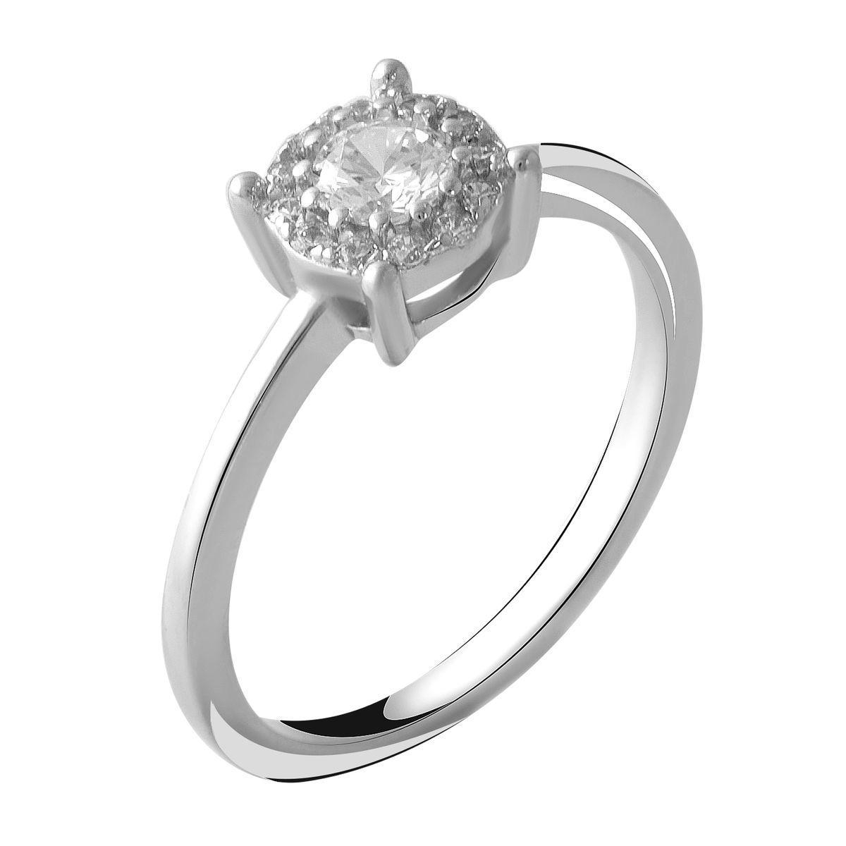 Серебряное кольцо DreamJewelry с фианитами (2049548) 18 размер