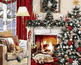 """Набор алмазной вышивки (мозаики) """"Рождественский вечер"""""""