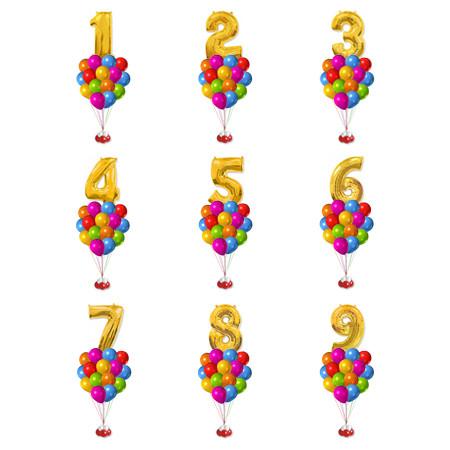 Композиція з гелієвих кулькок на замовлення ЦИФРА