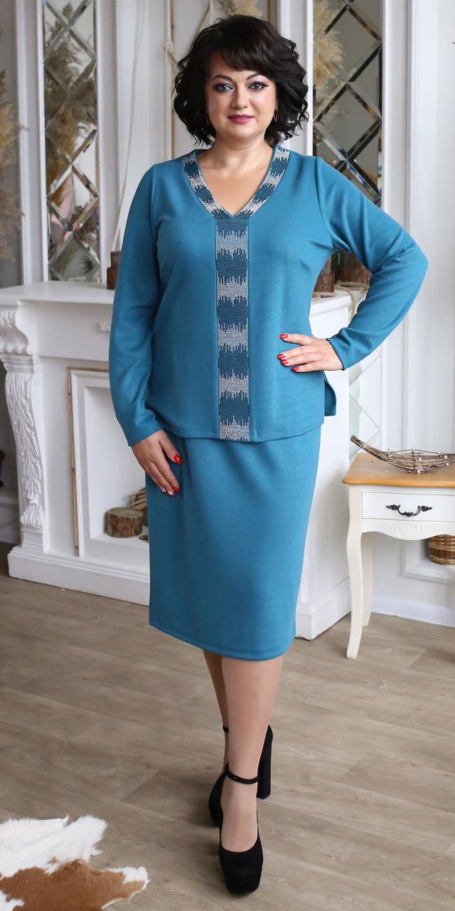 Трикотажне модне красиве молодіжне теплу сукню