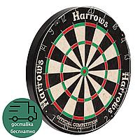 Мишень для игры в дартс профессиональная Harrows OFFICIAL COMPETITION Сизаль Диаметр 45 см Черный (JE03D)