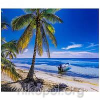 """Раскраска по номерам """"На берегу океана"""" на полотне, большая 400*500мм №31226, фото 1"""