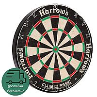 Мишень для игры в дартс профессиональная классическая Harrows CLUB CLASSIC Сизаль Диаметр 45 см Черный (JE06D)