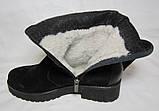 Распродажа 37 41 размер Зимние ботфорты замша, фото 4