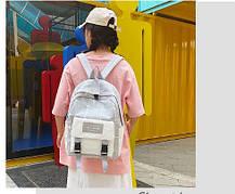 Большой тканевый рюкзак в клетку, фото 3