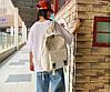 Большой тканевый рюкзак в клетку, фото 5