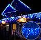 Гирлянда бахрома 120LED 4м Синяя RD-7081 черный провод   Новогодняя светодиодная гирлянда уличная, фото 2
