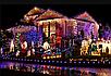 Гирлянда бахрома 120LED 4м Теплый белый черный провод 30/50/70см (флеш) RD-7117   Новогодняя LED гирлянда, фото 4
