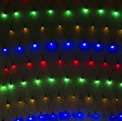Гирлянда сетка разноцветная 200LED 2x2м RD-7163 | Новогодняя LED гирлянда сетка мультицветная