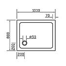 Поддон SMC 80*100*3,5см прямоугольный, фото 2