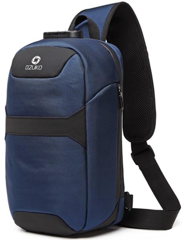 Однолямочный рюкзак Ozuko 9270 с кодовым замком синий 9л