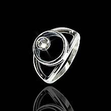 Серебряное кольцо с камушком 12091 Selenit