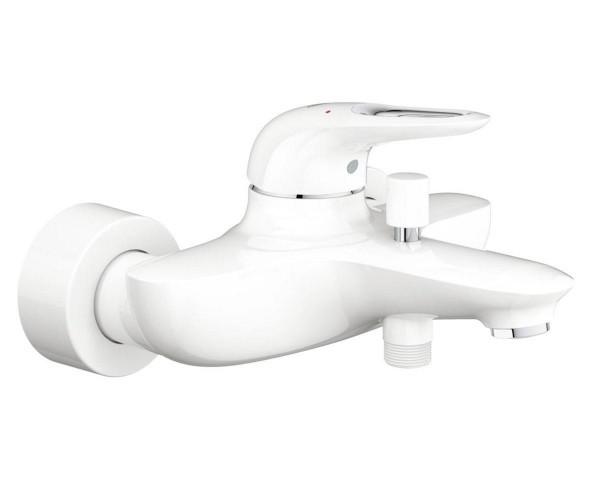 EUROSTYLE смеситель для ванны, однорычажный,цвет хром/белый