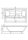 VITA ванна 180*80см прямоугольная, с ножками, фото 2