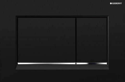 SIGMA 30 cмывная клавиша, двойной смыв, черный/хром глянцевый/черный