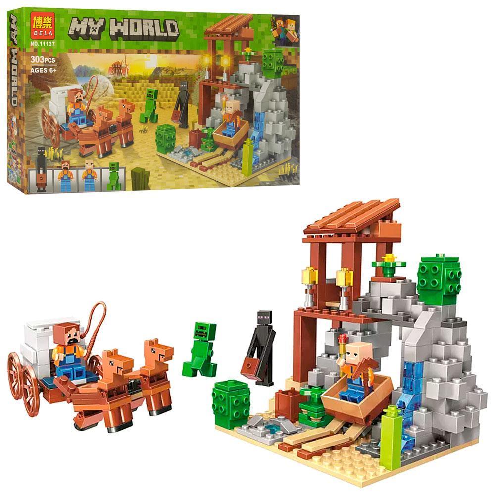 """Конструктор Bela Minecraft """"Погоня"""" (303 детали) арт. 11137"""