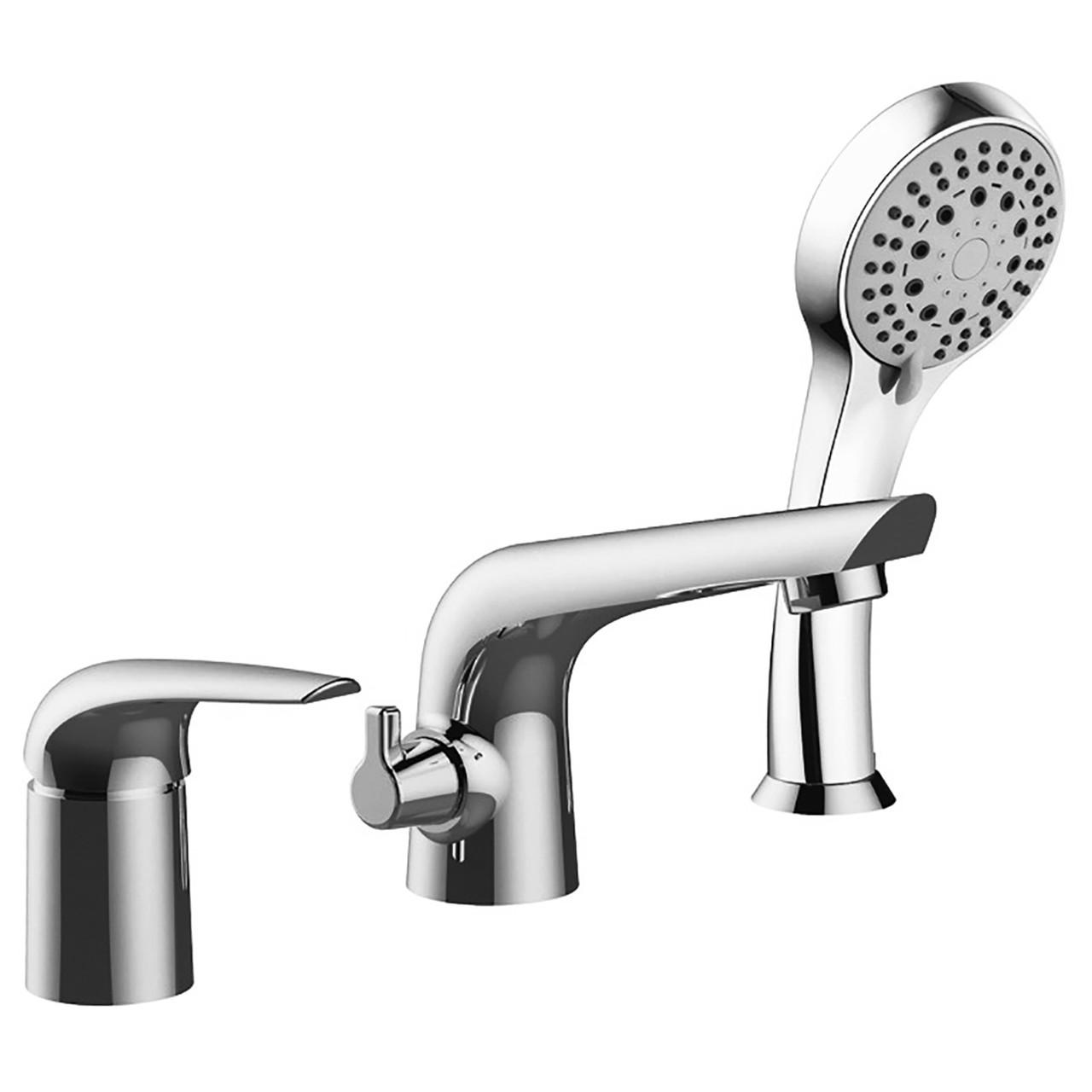 KRINICE смеситель для ванны, врезной, на три отверстия, хром, 35 мм
