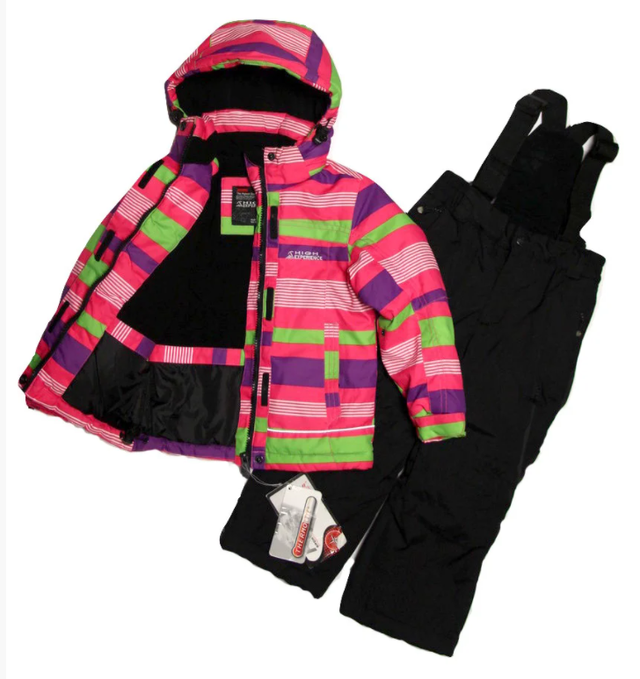 дитячий термокомбінезон зимовий роздільний для дівчинки