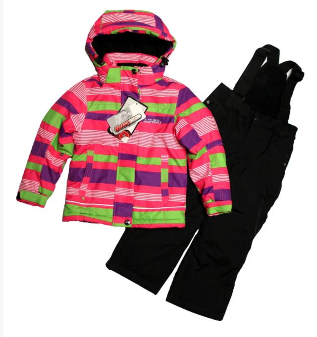 зимовий костюм термо для дівчинки на три роки