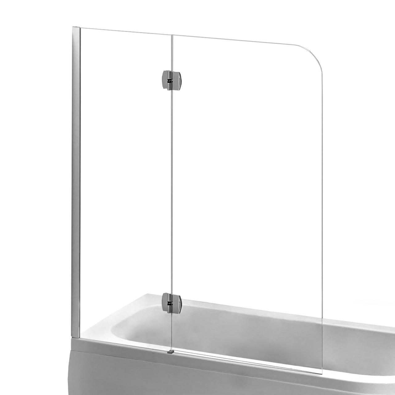 Шторка на ванну 120*150см, левая, профиль хром