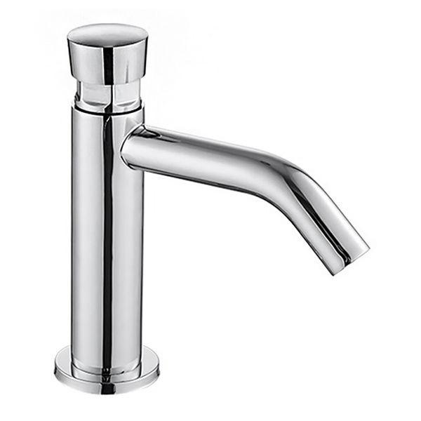 PUSH кран для холодной воды, нажимной, хром