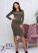 Платье теплое из ангоры хаки, фото 2