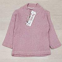 """Гольф дитячий меланжевий для дівчинки """"рожевий"""" розмір 1-3// 80"""