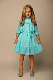 Платье ментол в горошек, шифон, подкладка трикотаж B&B Angel, р. 98, 116, фото 2