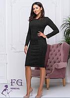 Платье женское теплое черное из ангоры софт