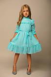 Платье ментол в горошек, шифон, подкладка трикотаж B&B Angel, р. 98, 116, фото 4