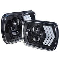 Фари прямокутні LED 5х7 дюйми, 55Вт, Jeep Chevrolet Ford GMC Toyota, 12 В, 45 Вт, WM-F5X7