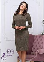 Платье женское теплое бордовое из ангоры софт, фото 3