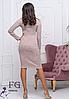 Платье женское теплое бордовое из ангоры софт, фото 6