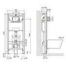 IMPRESE комплект инсталляции для унитаза 3в1 (инсталляция, крепления, клавиша белая PANI), фото 2