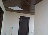 Плита подвесного потолка 600х600 металлическая под дерево Золотой дуб, фото 10